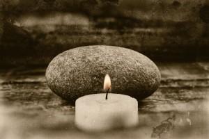 Zen Stone & Candle - Joseph Chierotti